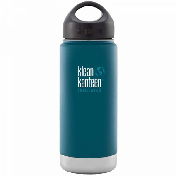 Klean Kanteen Insulated Stainless Steel Bottle in Neptune Blue teal - 473ml