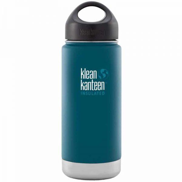 Klean Kanteen Insulated Stainless Steel Bottle in Neptune Blue teal - 473ml