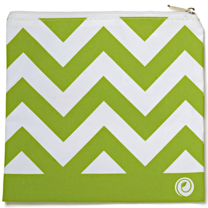 Green Chevron LunchSkins Reusable Zip Bag