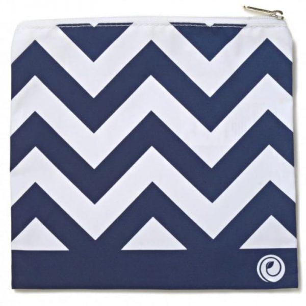 Navy Chevron LunchSkins Reusable Zip Bag