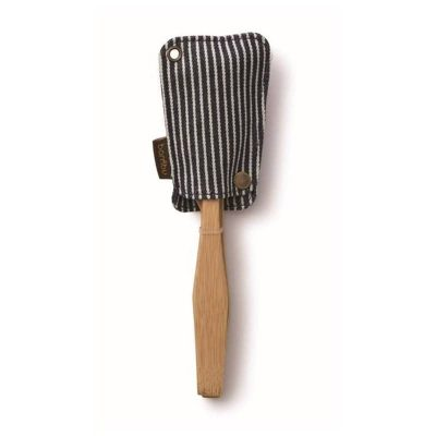 Reusable bamboo cutlery set with cotton pouch