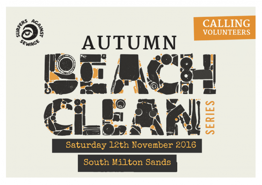SAS beach clean at south milton sands