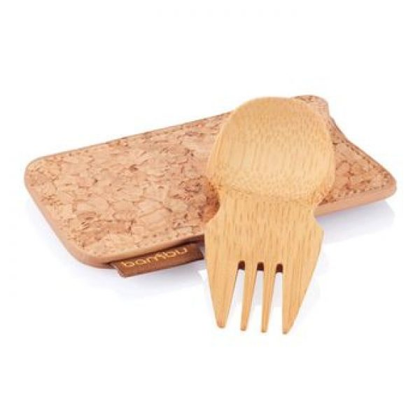 reusable travel cutlery - spork and cork