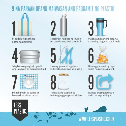 9 tips for living with less plastic in Filipino